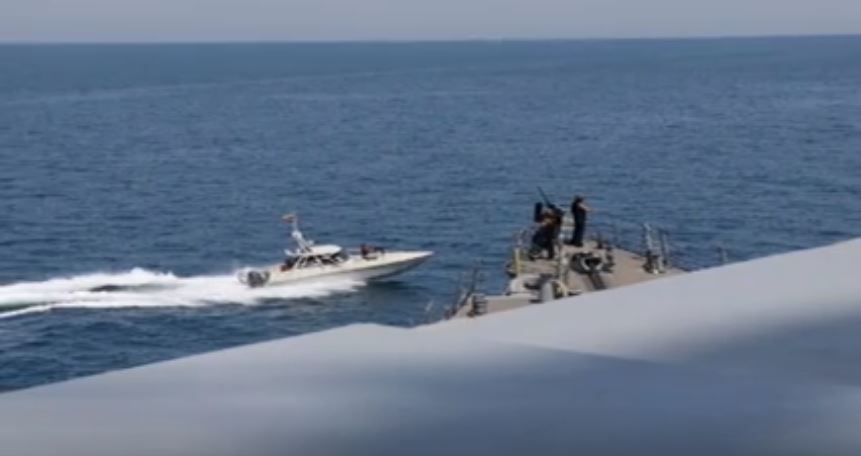 after about an hour the iranian ships left said the us military in their statement photo reuters
