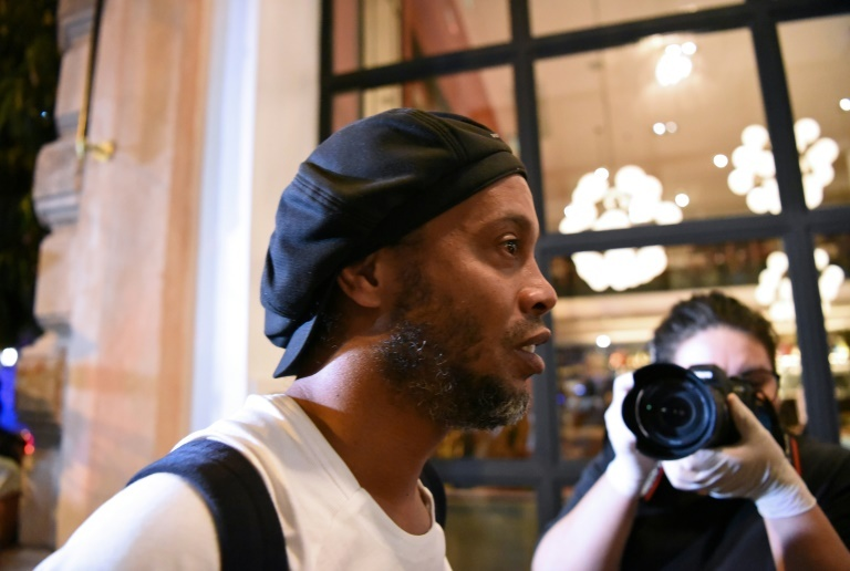ronaldinho and his business manager brother roberto are occupying two 350 a night suites at palmaroga hotel just a couple of blocks from government headquarters photo afp