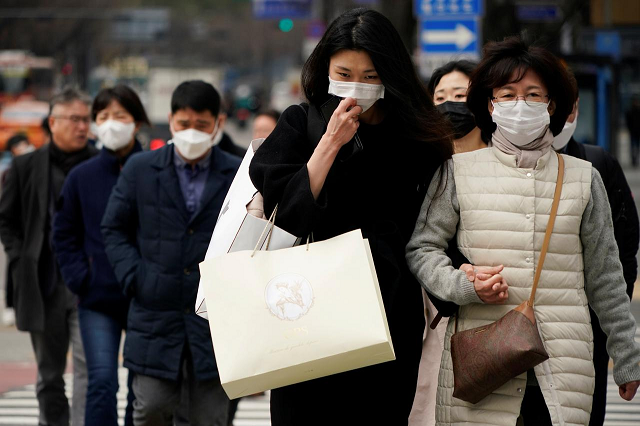 a total of 141 cases recovered from the virus in south korea earlier have been tested positive for covid 19 again photo reuters