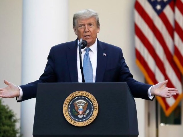 us president donald trump addresses the daily coronavirus task force briefing in the rose garden at the white house in washington photo reuters