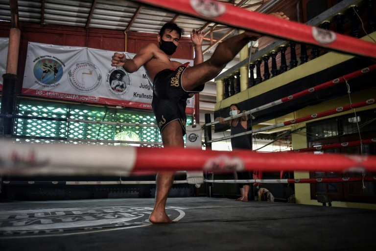 the boxing community must band together to help the most financially vulnerable fighters says youssef boughanem muay thai 039 s world middleweight champion and the owner of a pattaya based gym photo afp