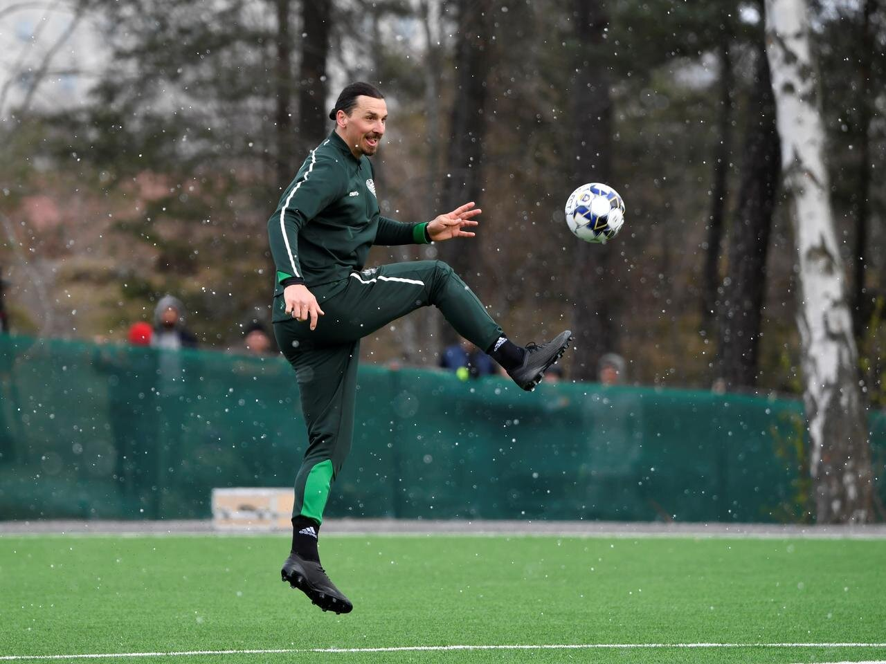 the club and their fans would love to see ibrahimovic who also trained with the squad on monday in their colours but the 38 year old remained tight lipped about his future photo reuters