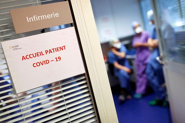 a sign is pictured in an intensive care unit for coronavirus disease covid 19 patients at the clinique de l 039 orangerie private hospital in strasbourg as the spread of the coronavirus disease continues france april 17 2020 photo reuters
