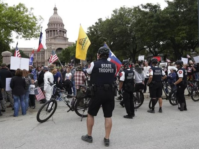 hundreds of protests spring up in us against stay at home decrees