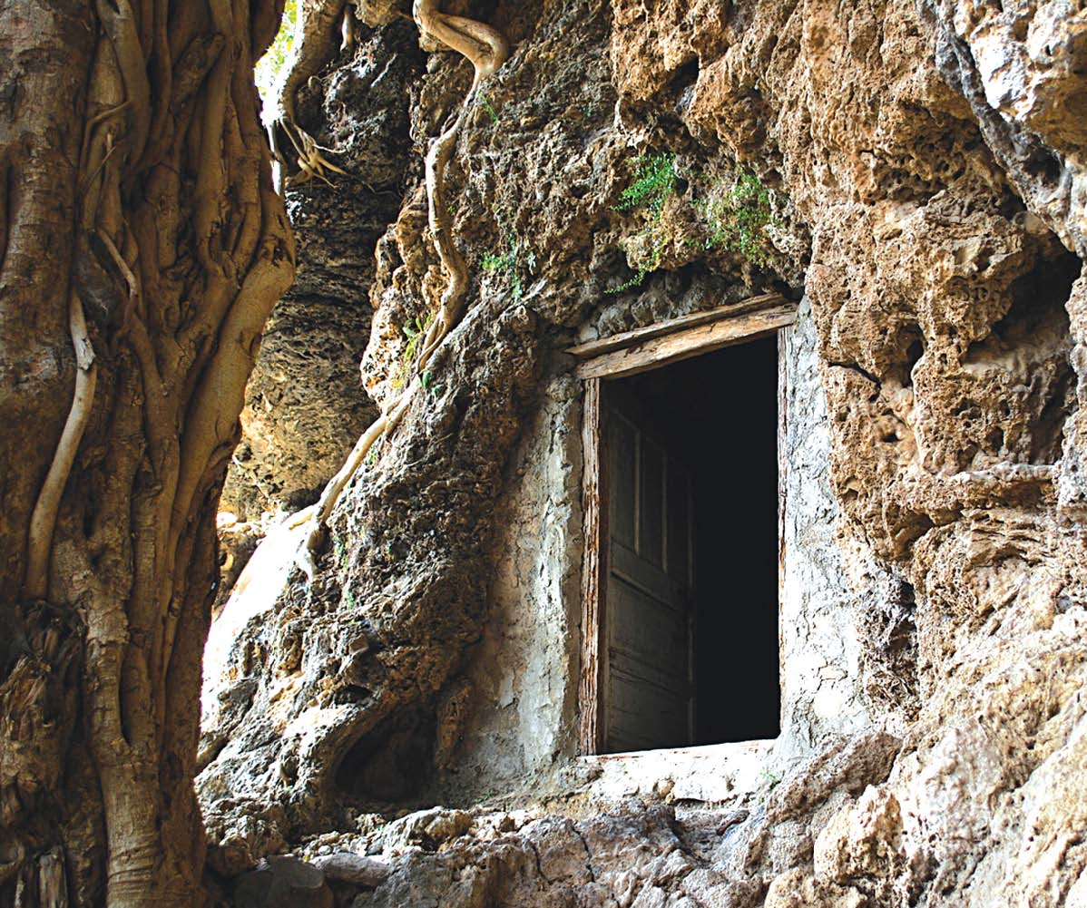 a view of the ancient shah allah ditta caves photo file