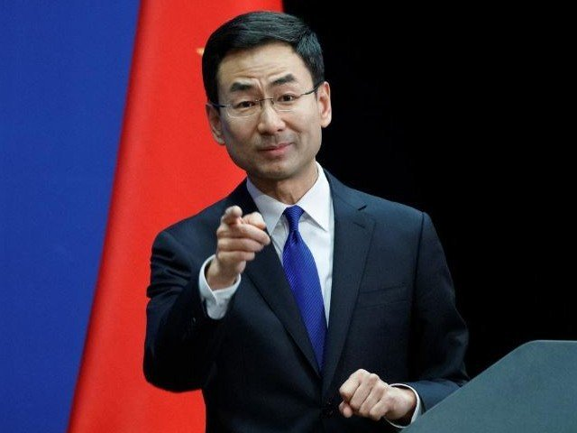 chinese foreign ministry spokesman geng shuang takes a question from a journalist during the daily press briefing of the foreign ministry in beijing china photo reuters file