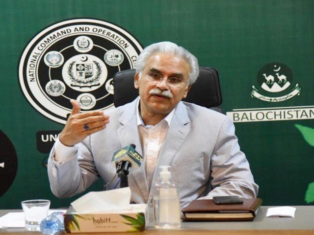 special assistant to prime minister on health dr zafar mirza briefing the media on coronavirus on monday photo pid