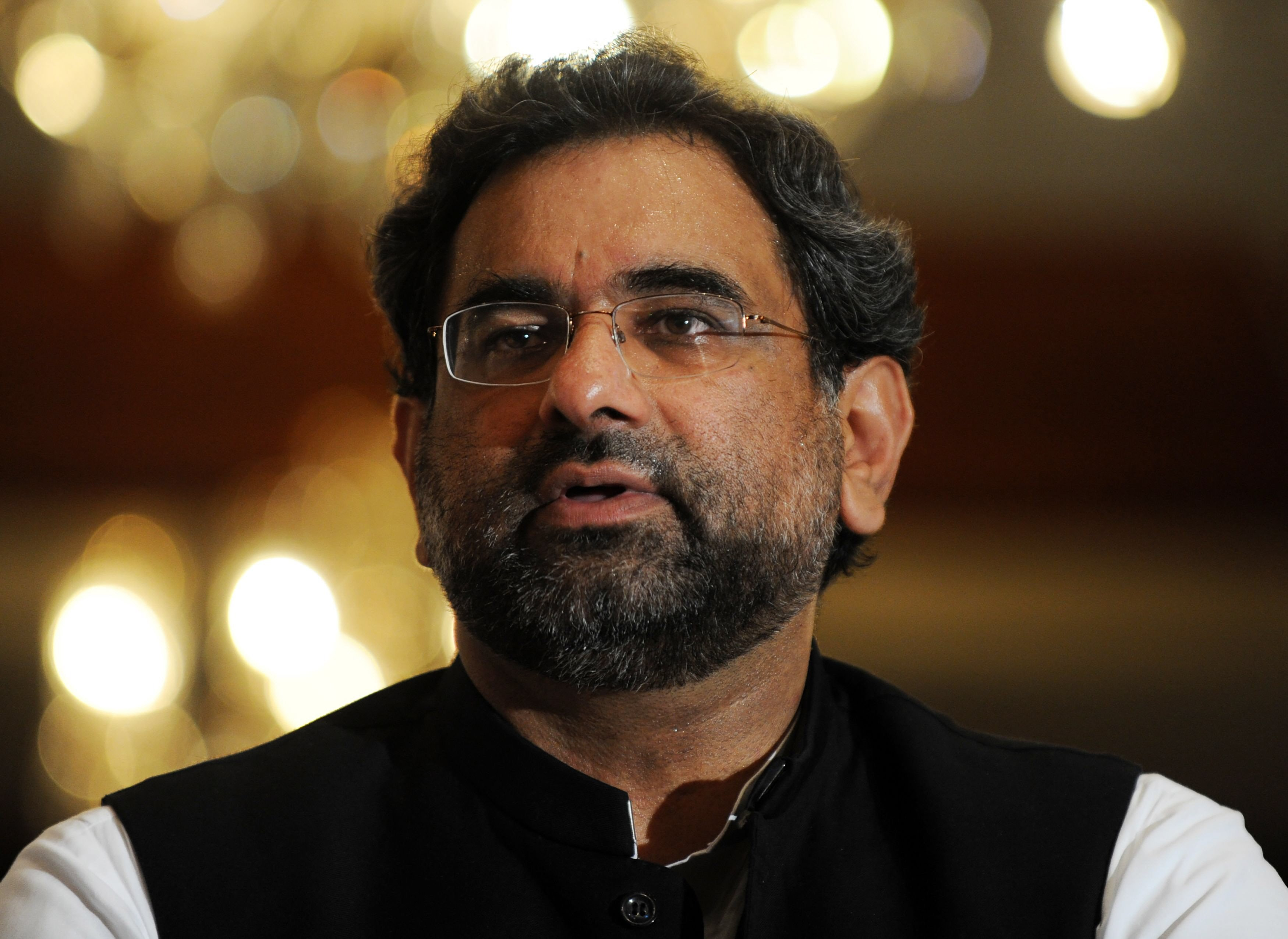 abbasi says pti conducting media trial of opposition photo afp file