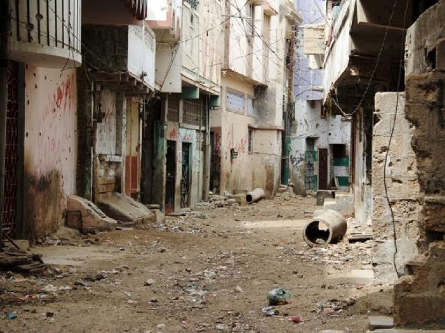 A street of Lyari. PHOTO: EXPRESS