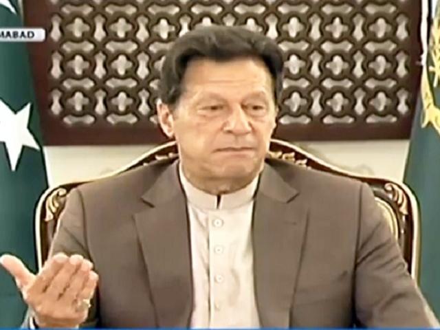 prime minister imran khan addresses the media in islamabad screengrab