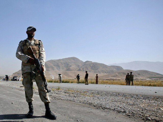 file photo of a solder standing guard in balochistan photo reuters