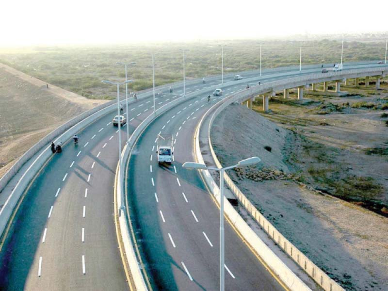 the per km construction cost of sukkur hyderabad motorway is projected to be rs164m or 21 5 less than a similar cpec project photo file
