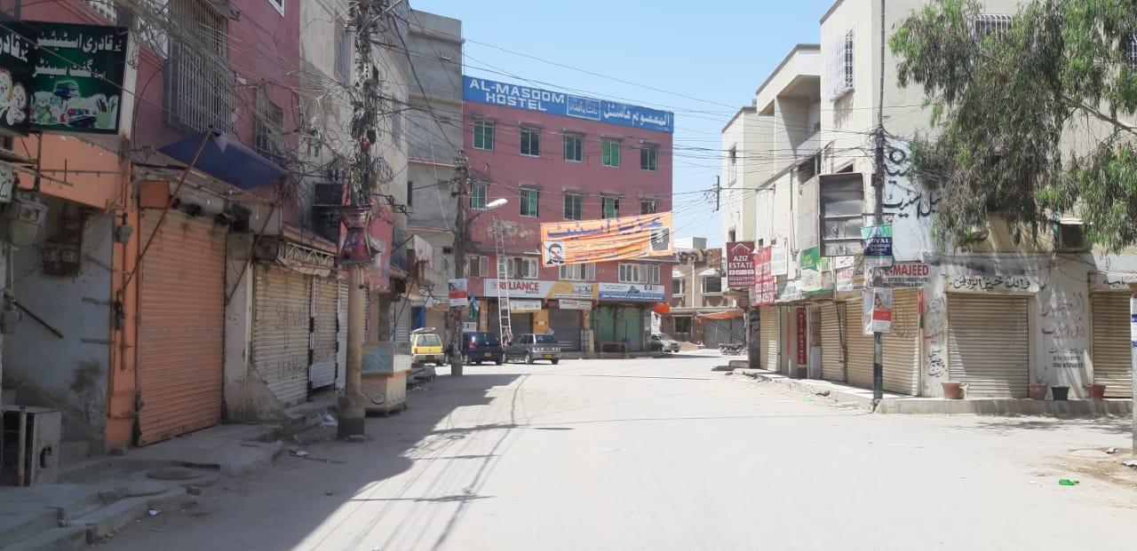 karachi under lockdown photo express