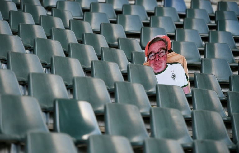 the german football league dfl will meet thursday to outline plans for the country 039 s top flight to resume from may 9 having been halted in mid march photo afp
