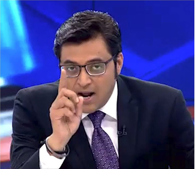 indian journalist arnab goswami booked for inciting religious hatred
