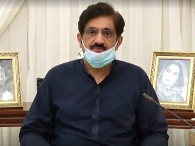 A screengrab from video message of Chief Minister Sindh Syed Murad Ali Shah