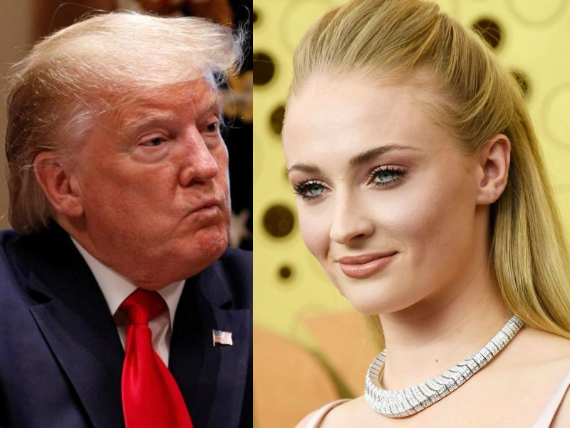 sophie turner slams trump for inciting use of disinfectant as cure for covid 19