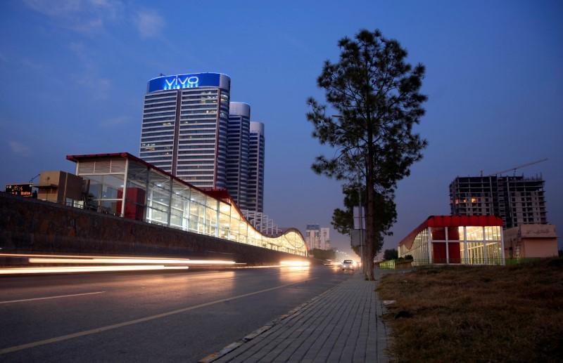 vehicles run past the centaurus mall in islamabad pakistan photo reuters