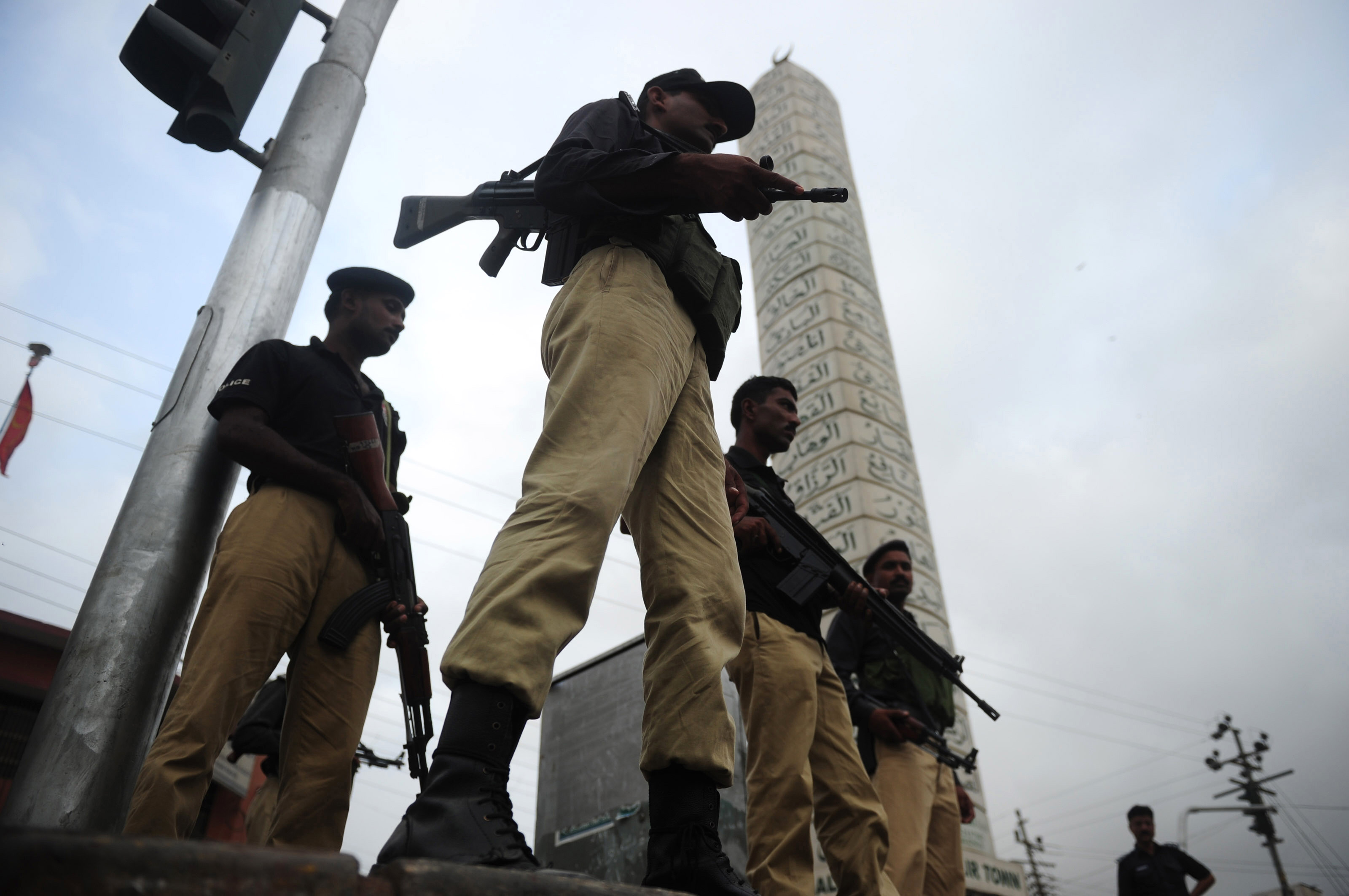 an afp file image of sindh police