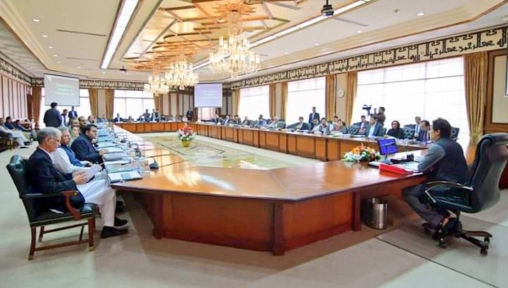 file photo of pm imran khan chairing federal cabinet meeting photo radio pakistan