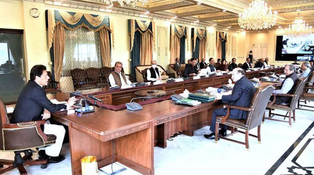 pm imran khan chairs a federal cabinet meeting in islamabad photo app file