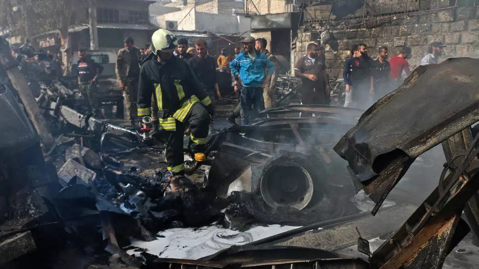 dozens killed by blast in syrian town of afrin turkey says