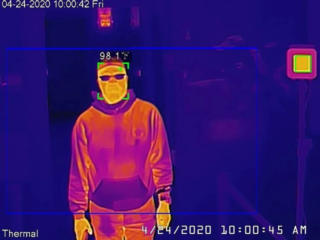 a dahua thermal camera takes a man 039 s temperature during a demonstration of the technology in san francisco california us april 24 2020 photo reuters