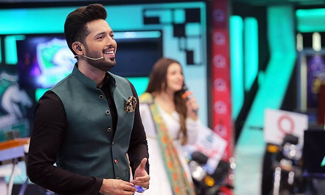 a file photo of quot jeeto pakistan quot host fahad mustafa during a live transmision photo reuters file