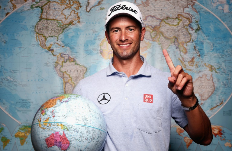 scott live streamed nine holes of play with local pro wayne perske at maleny golf club on the sunshine coast photo afp