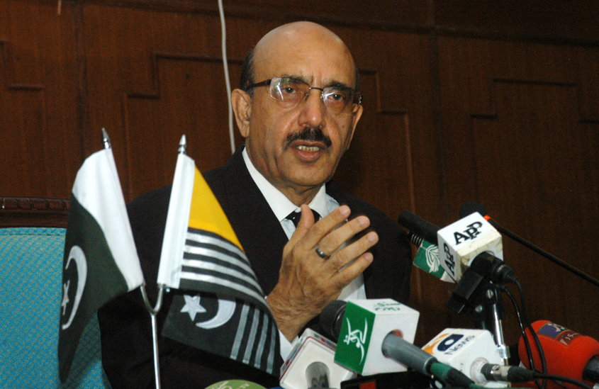 ajk president masood khan says through an amendment in domicile law india wants to settle a very large number of indian hindus in ioj amp k photo express