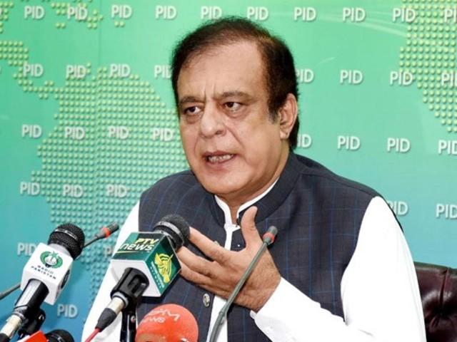 federal minister for information and broadcasting senator shibli faraz addressing a press conference in islamabad photo radio pakistan file