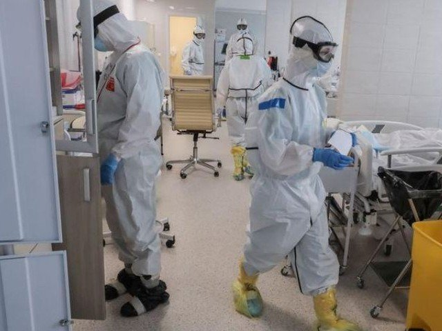 medical specialists wearing personal protective equipment ppe work in the intensive care unit icu for coronavirus disease covid 19 patients at a hospital in moscow russia photo reuters