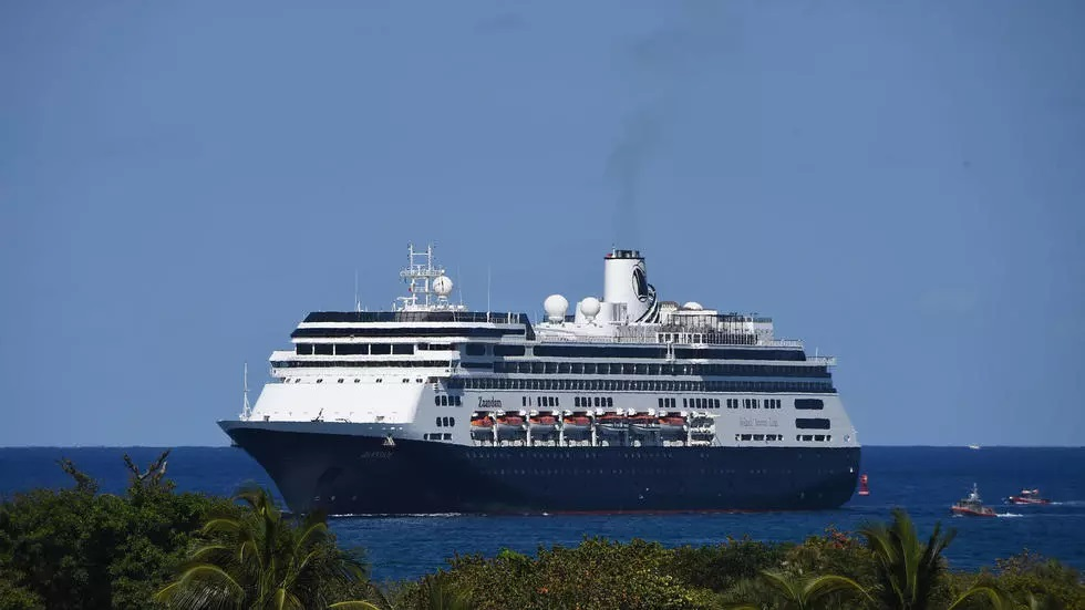 the holland america cruise ship zaandam arrives at port everglades in fort lauderdale