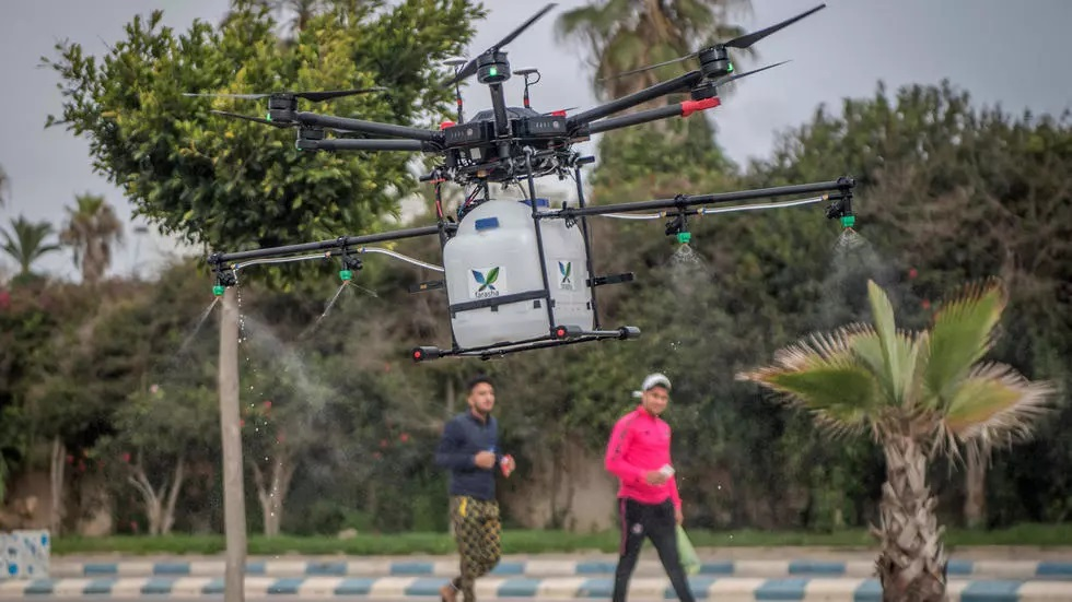 morocco is trialling high tech solutions like disinfectant spraying drones to help fight the new coronavirus photo afp