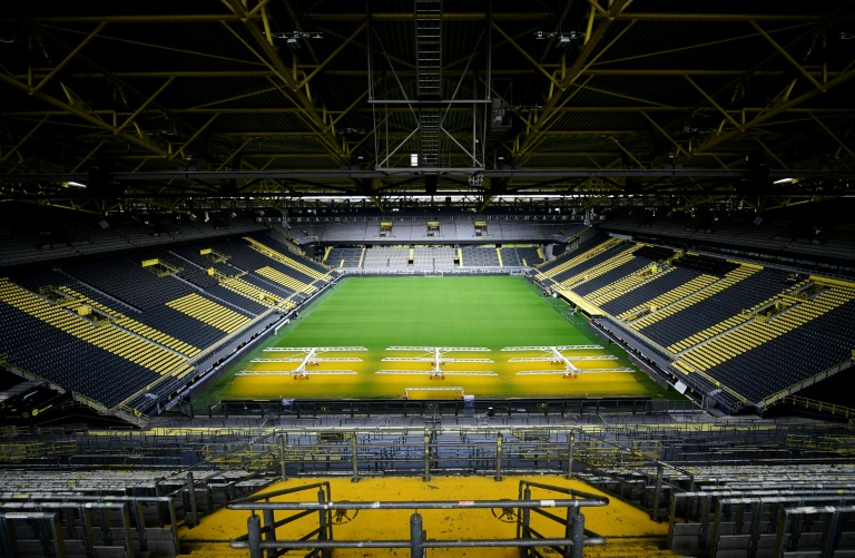 the german football league hopes to get the greenlight on wednesday to restart from may 15 photo afp