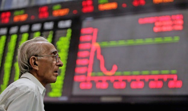 benchmark index falls 264 57 points to settle at 33 728 18 photo reuters