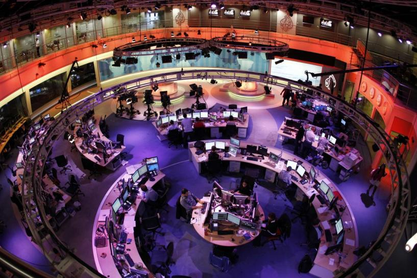 A general view shows the newsroom. PHOTO: REUTERS