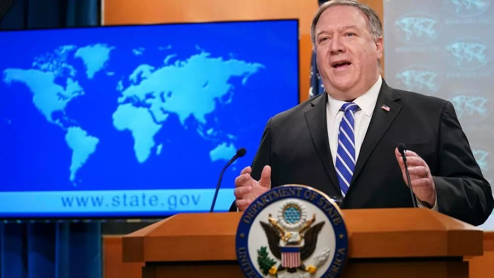 us secretary of state mike pompeo speaks to reporters during a media briefing at the state department in washington dc photo afp