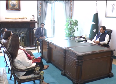 ambassador of the european union delegation to pakistan androulla kaminara called on prime minister imran khan screengrab