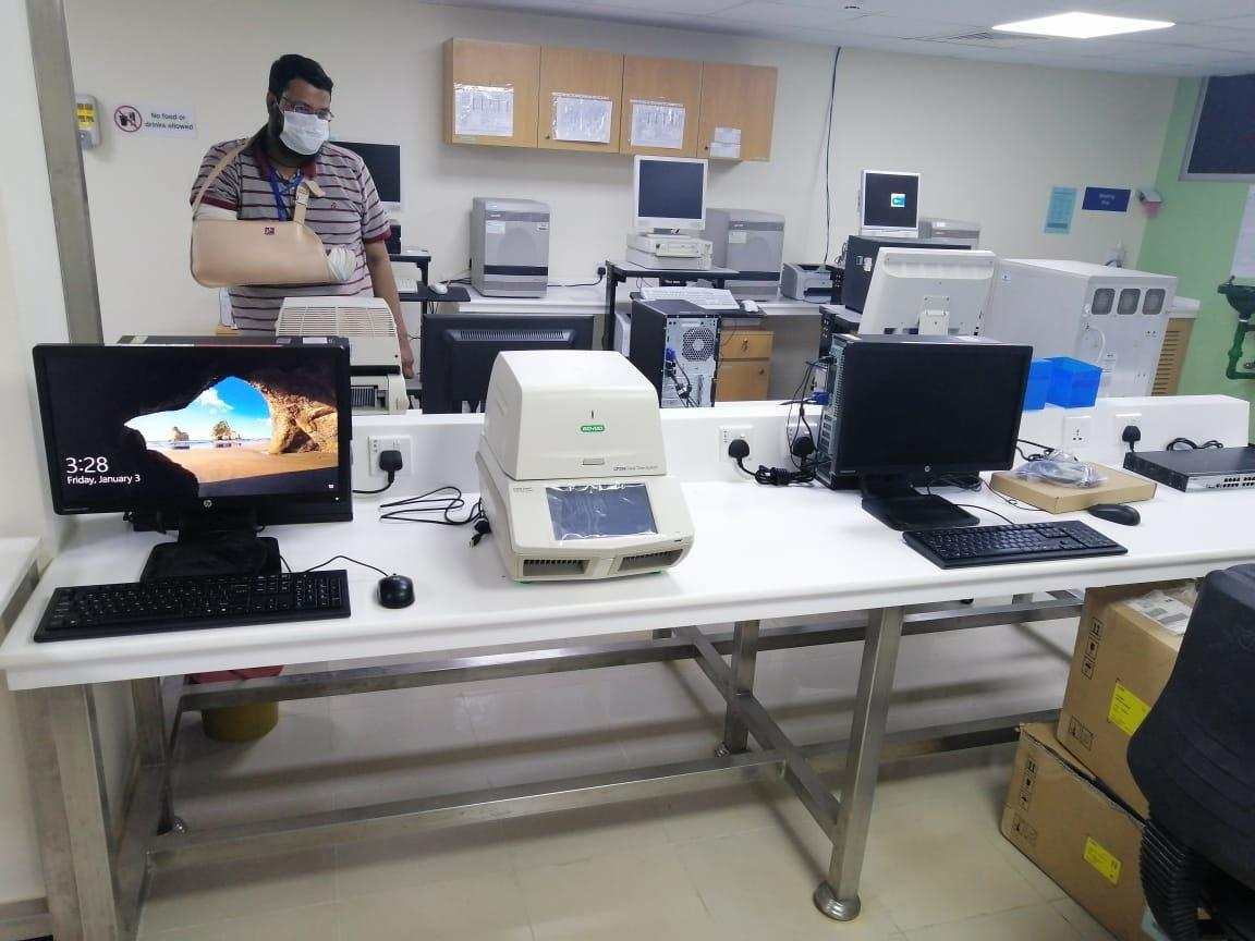 pcrs provided to the indus hospital by pcmd