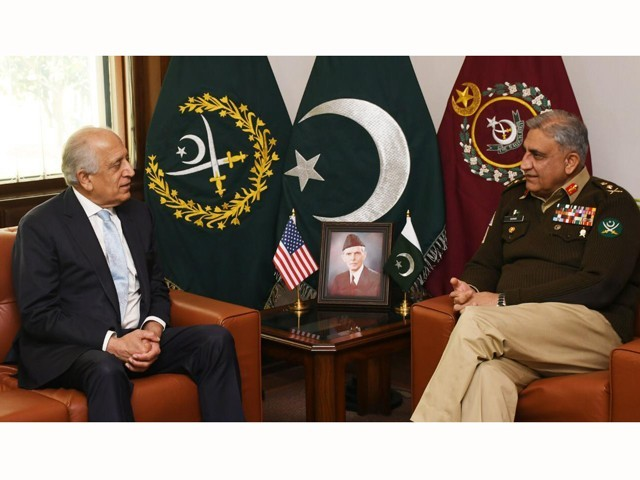 zalmay khalilzad appreciated pakistan 039 s continuous efforts for peace and stability in the region photo ispr file