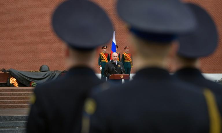 russia hosts grand military parades for the event but now finds itself at the centre of the pandemic crisis photo afp file