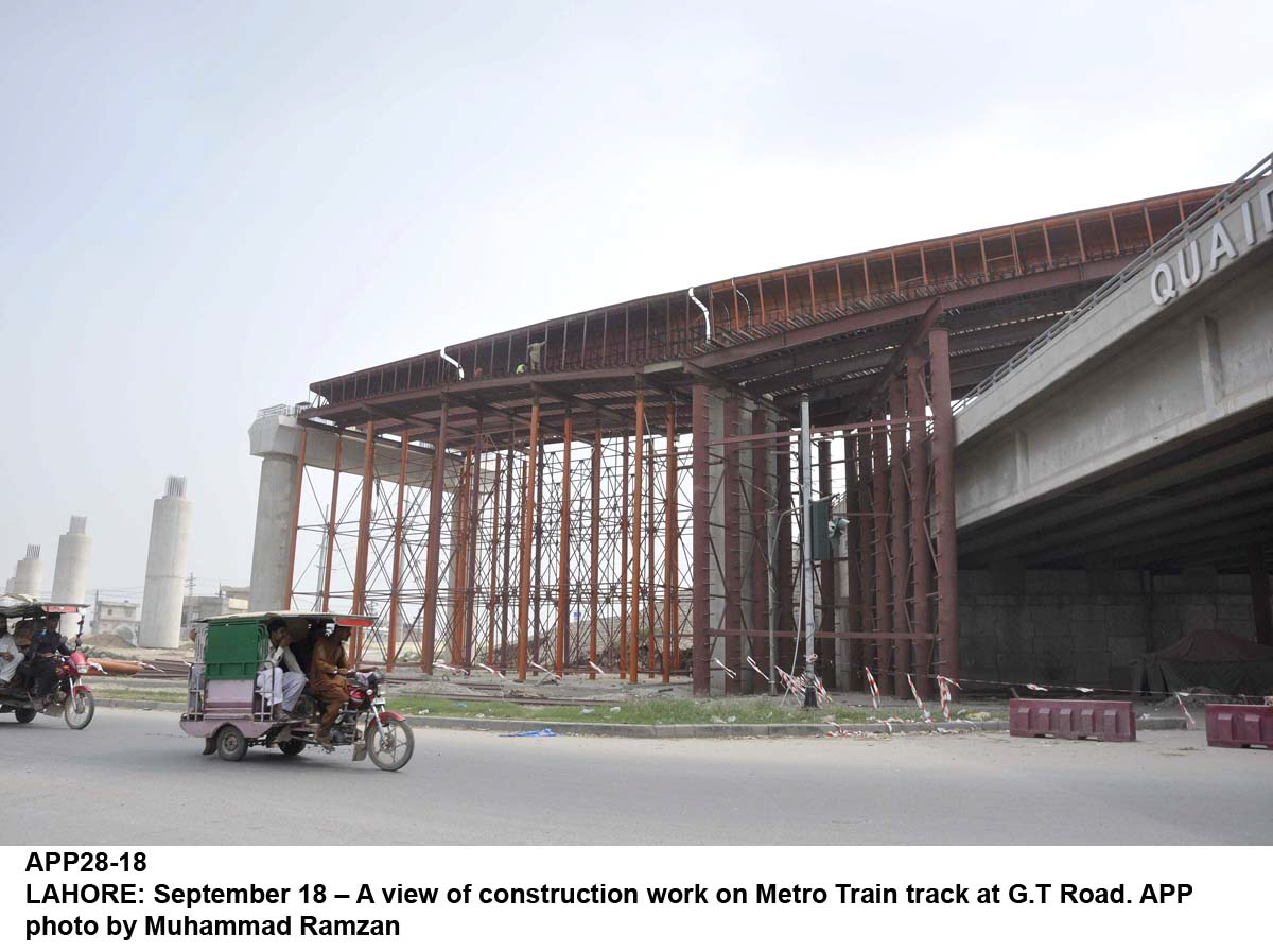 orange line of lahore s metro train will be synchronized with historic architecture photo app