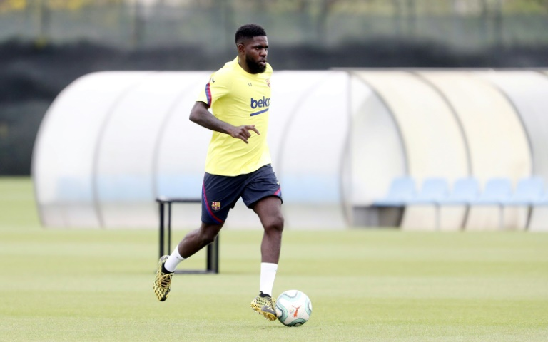 barca said that the defender picked up an injury to his right calf during saturday 039 s individual training session photo afp