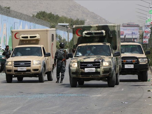 afghanistan s human rights commission says insurgents took away five trucks of food aid sent by turkmenistan photo aa