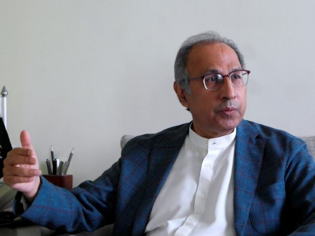 adviser to the prime minister on finance abdul hafeez shaikh speaks during an interview with reuters at his office as the coronavirus disease covid 19 outbreak continues in islamabad pakistan photo reuters
