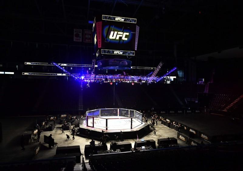 with sporting events cancelled around the globe due to the novel coronavirus outbreak the ufc is staging three cards in eight days in jacksonville florida photo afp