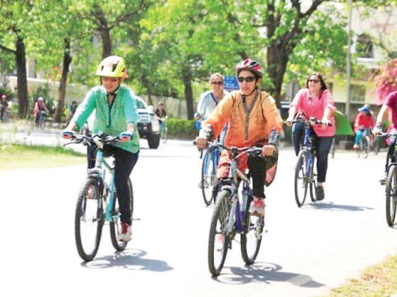 The trend of cycling, which has gained popularity amid the lockdown, has been appreciated for its health benefits. PHOTO: FILE