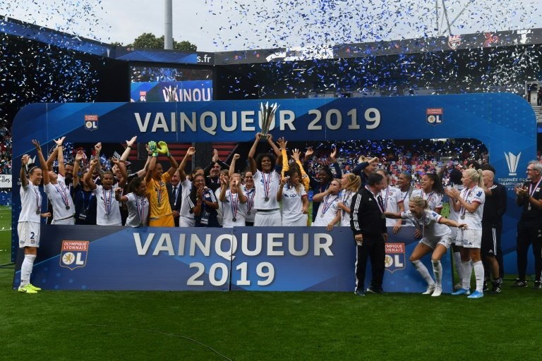 lyon winners of the past four women 039 s champions league finals have claimed the french title every year since 2007 photo afp