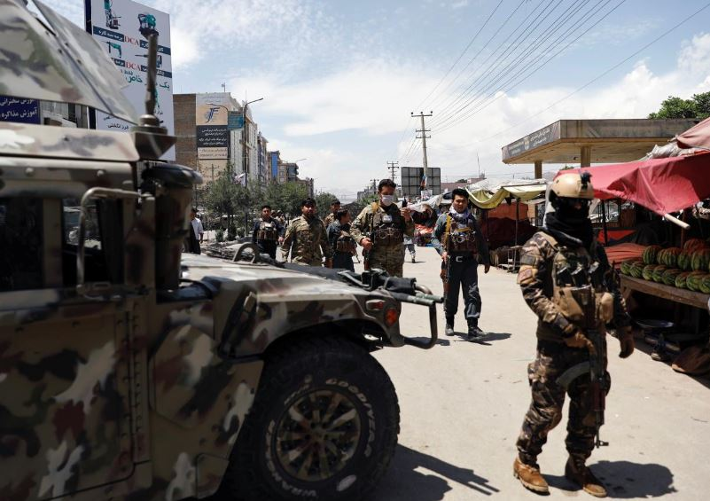 afghan security forces arrive at the site of an attack in kabul afghanistan may 12 2020 photo reuters